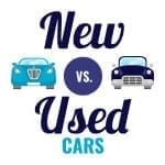 buying new vs used cars infographic